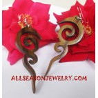 Carvings Earrings Wooden