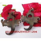 Carvings Wood Earring