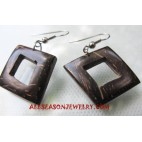 Coco Wood Earring Carved