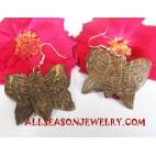 Coconut Earrings Butterfly