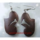 Coconut Earrings Wooden