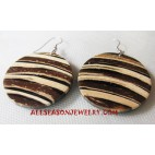 Coconut Wooden Earring