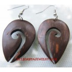 Coconuts Earrings Carving