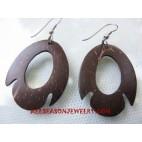Coconuts Wood Earrings