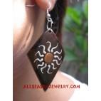 Earring Wood Handpainted