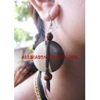 Earring Wood Natural Handmade