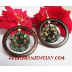 Earring Wood Seashells