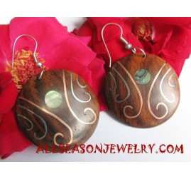 Earring Wood Stainless