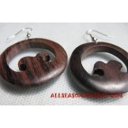Earring Wooden Carved