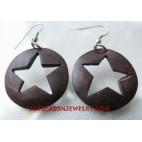 Earring Wooden Stars