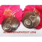 Earrings Stainless Wood