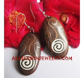 Earrings Stainless Woods