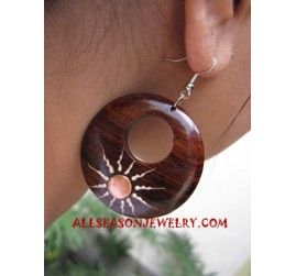 Earrings Wood Natural
