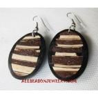 Earrings Wooden Coconuts