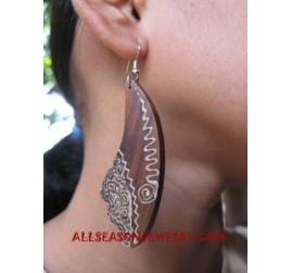Earrings Wooden Handpainted