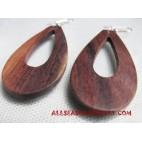 Earrings Wooden Natural