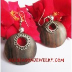 Earrings Wooden Stainless