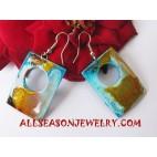 Earrings Woods Airbrush