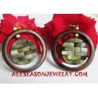Earrings Woods Shell