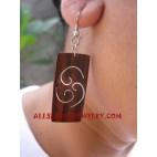 Fashion Earrings Wood