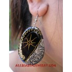 Fashion Wood Earring Painted