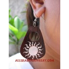Fashion Wood Earring Painting