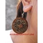 Flower Wooden Earring