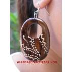 Handpainted Earrings Wooden