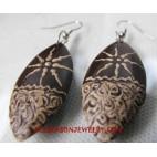 Handpainted Woods Earring
