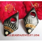 Handpainted Wood Earrings