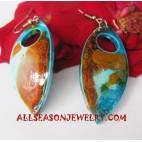 Handpaintings Wood Earrings