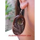 Handpainting Woods Earrings