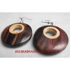 Ladies Earring Wood Natural
