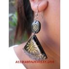 Ladies Wood Earring Painting