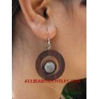 Ladies Wood Earring Shell