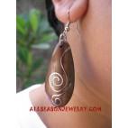 Ladies Wood Earring Stainless