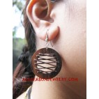 Leather Wood Earring