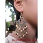 Metal Wooden Earring