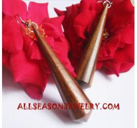 Natural Earrings Wood