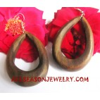 Natural Earrings Wooden
