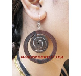 Natural Stainless Earring Wood