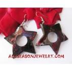 Painting Earrings Wooden