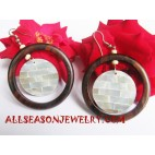 Seashells Wooden Earrings