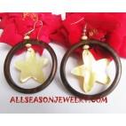 Seashells Earrings Wooden