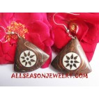 Stainless Wood Earring
