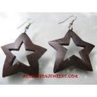 Stars Wooden Earring