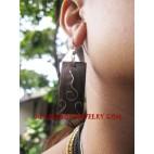 Steel Wood Earring Sono