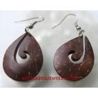 Wood Coco Earring