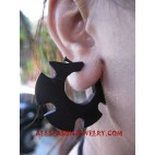 Wood Earrings Carved