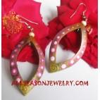 Wood Earrings Handpainted